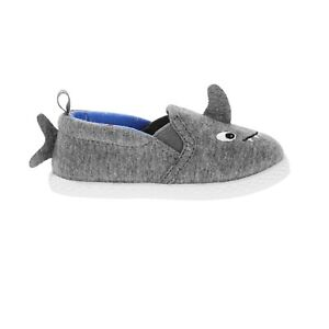 Wonder Nation Boys Slip On Shoes Gray Shark Size 6  NEW