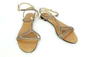 miglior sito web 0446f 0f50f Dettagli su Sandali Zara pelle Beige T 38 / Regno Unito 5 Buone Condizioni