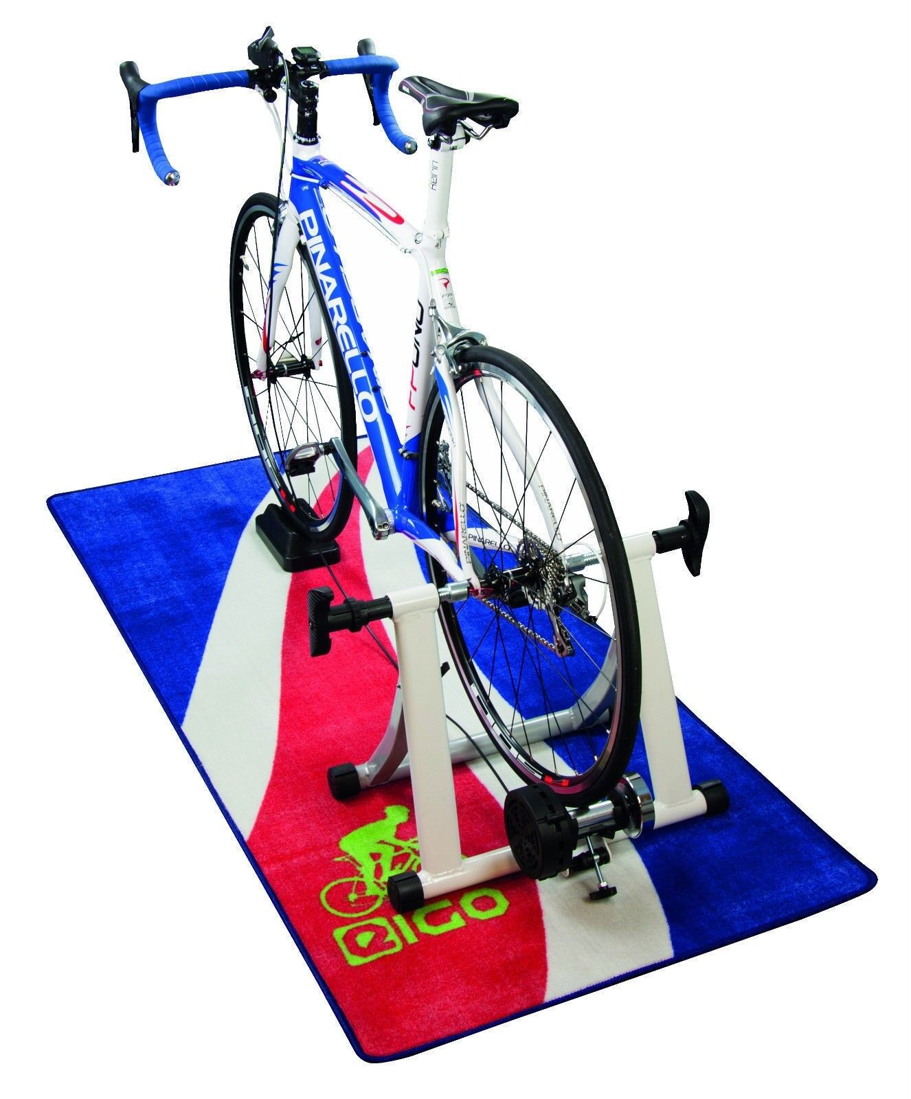 NEW EIGO TURBO TRAINER FLOOR MAT blueeE FLOW - CYCLE BIKE BICYCLE TRIATHLON