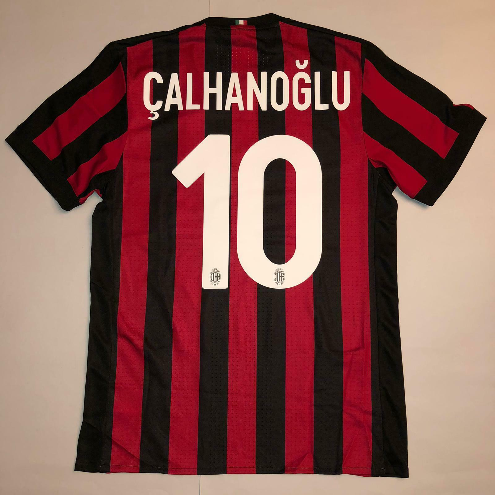 CALHANOGLU HOME MILAN MATCH ISSUED PLAYER SHIRT 20172018 TIM CUP