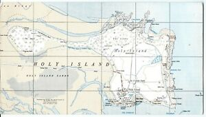 HOLY-ISLAND-2-1-2-inch-scale-Ordnance-Survey-Map-large-postcard-Lindisfarne