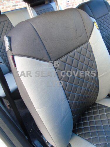 GREY//BLACK DIAMOND i SEAT COVERS TO FIT A MAZDA BONGO CAR FULL SET