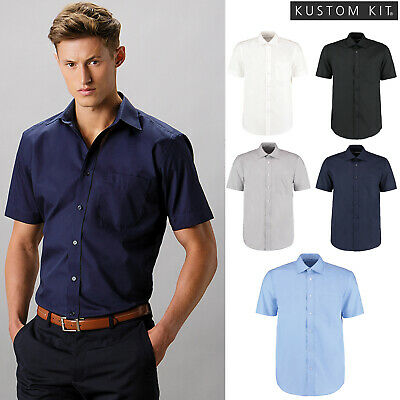 BC593 Kustom Kit Mens Classic Fused Collar Long Sleeve Business Shirt