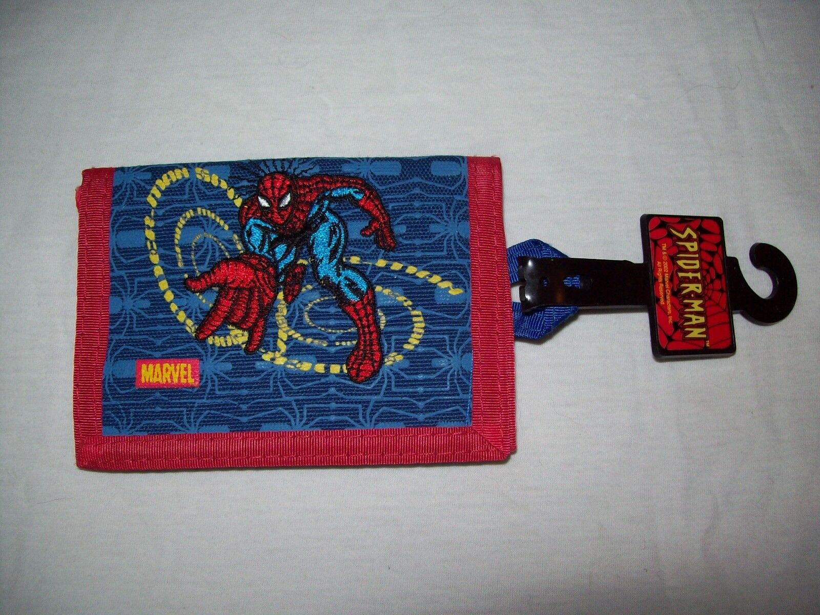 Vintage 2002 SPIDER-MAN Tri-fold EmbroideROT WALLET - BRAND with NEW with BRAND TAGS b77837