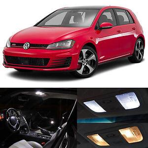 Details About White Interior Led Lights Package Kit For 2017 2016 Volkswagen Golf Gti Mk7