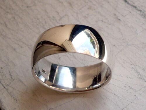 9mm 925 STERLING SILVER MEN'S WEDDING BAND RING SIZES 8-11.5 FREE ENGRAVING