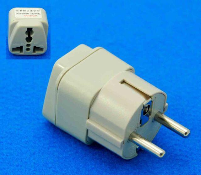 Australia to Schuko Germany South Korea Travel Adapter AC Power Plug Universal
