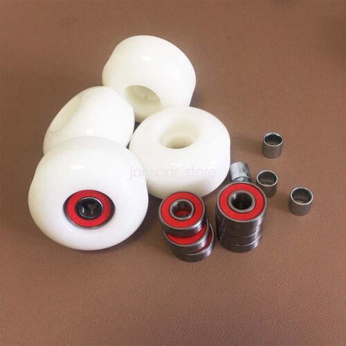 Skateboard Parts Kit 4pcs 83A Wheels 8pcs 608RS ABEC-9 Bearings 4pcs Spacers