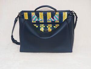 0ec0fd10e96 Fendi Men's Monster Eyes Peekaboo Calfskin Leather Bag, Multicolor ...