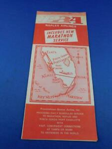PBA-NAPLES-AIRLINES-TIMETABLE-SCHEDULE-MARCH-1980-NEW-MARATHON-SERVICE
