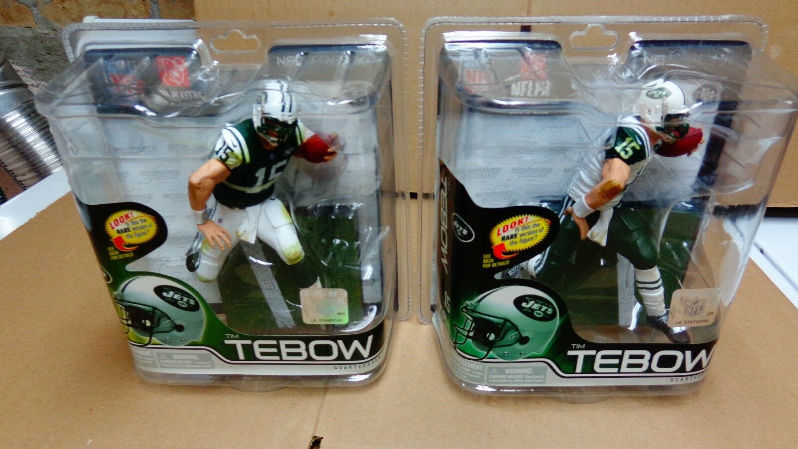 MCFARLANE tim tebow NFL30 AND 31 new york JETS( CASE OF 8 PCS)