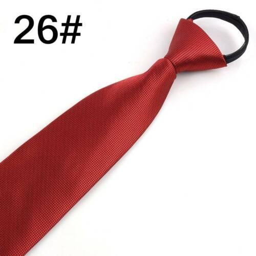 8CM Lazy Men/'s Zipper Necktie Striped Casual Business Wedding Zip Up Neck Ties