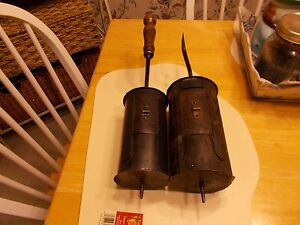 2 COFFEE/CHESTNUT ROASTER DRUMS ONE 1800S ONE 1900S USEDTO ROAST COFFEE BEANS