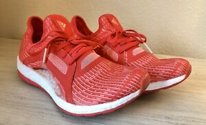 Adidas-Pure-Boost-X-Red-Prime-Knit-Running-Shoes-Trainers-AQ3399-Size-9