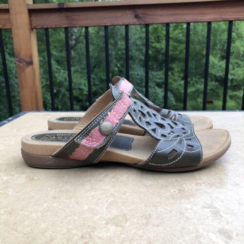 Le Artiste Ulyana Leather Laser Cut Out Sandals Sz