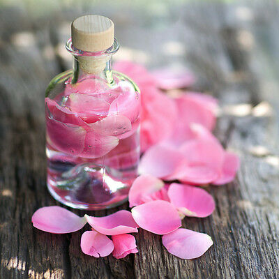 100% Pure Alcohol FREE Concentrated Rose Water x5 -  1/2 oz - 4oz  Facial Toner