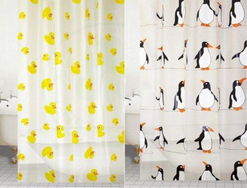 PEVA Designer salle de bains Rideau de Douche Imperméable Avec Crochets Extra Long Animal