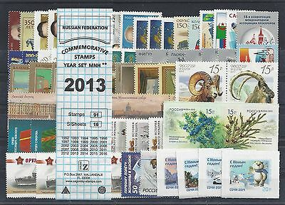 RUSSIA 2013 COMMEMORATIVE YEAR SET MNH (see two scans)