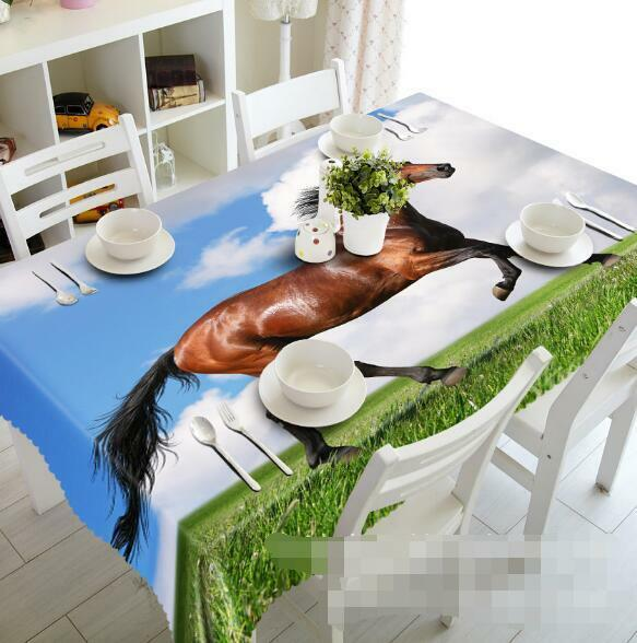 3D Grass Horse 44 Tablecloth Table Cover Cloth Birthday Party Event AJ WALLPAPER