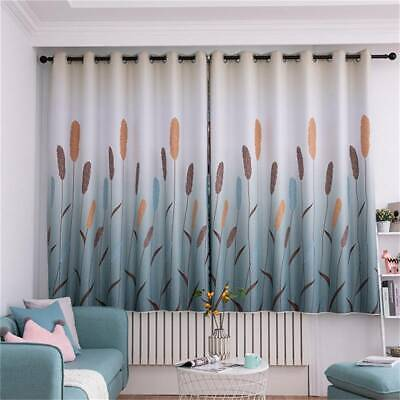 Reed Printed Blackout Curtain Casual Curtains Drapes ...