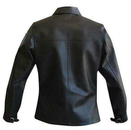 Kelly McGillis Top Gun Women Charlie Black Pilot Aviator Real Leather New Jacket