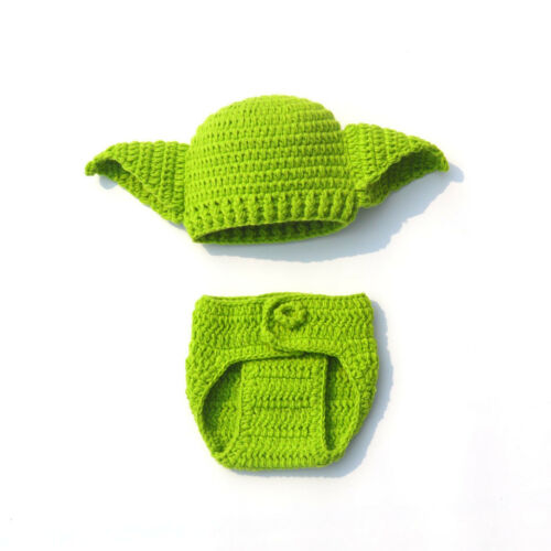 Newborn Baby Yoda Photo Props Star Wars Outfits Crochet Knit Baby/' Costume NICE
