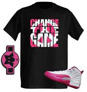 dede4b542e24 Change The Game Vivid Pink Design Tshirt 2 match with Air Jordan ...