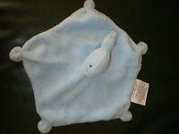 Doudou Babou Poisson Baleine Plat Bleu Blanc Dessous Blanc Neuf