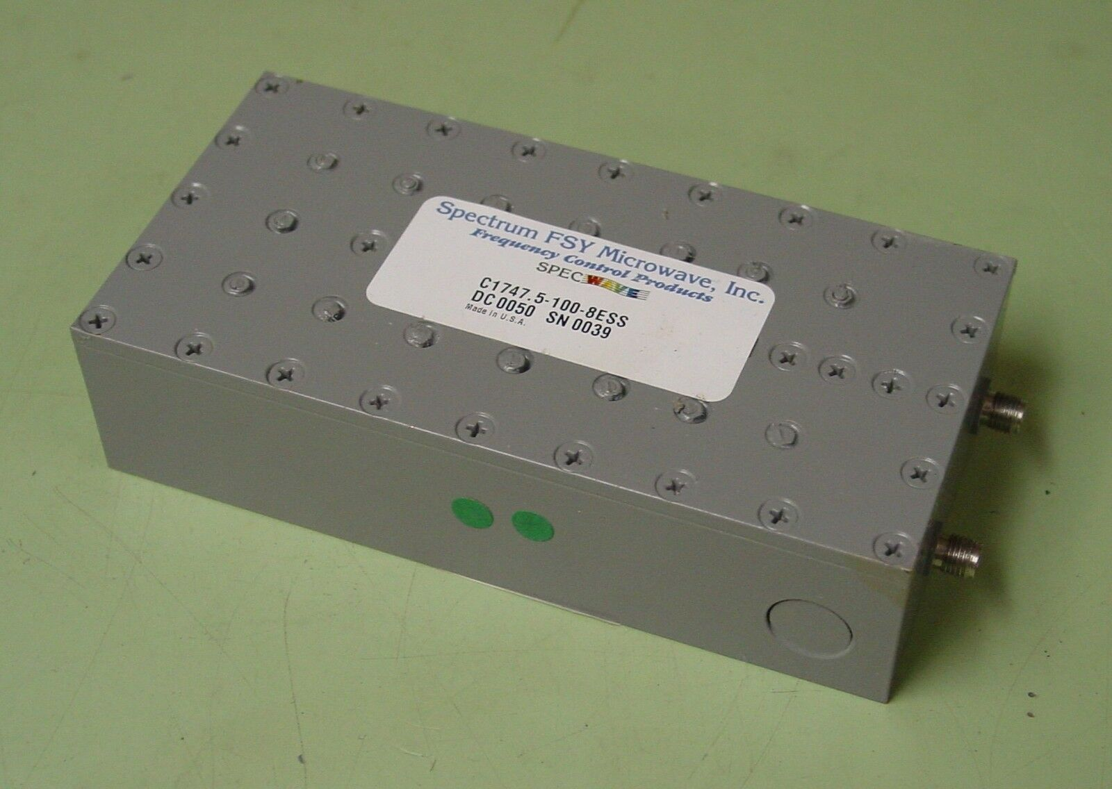 Spectrum Fsy Microwave 1747 5 Mhz Rf Bandp Filter