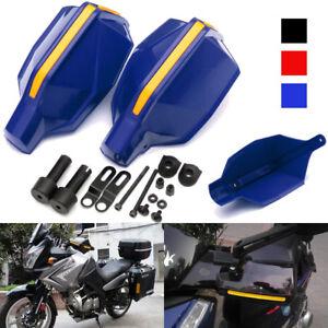 2x-Azul-7-8-039-039-22mm-Manillar-Moto-Guardamanos-Mano-Guardia-Protector-Cubremanos