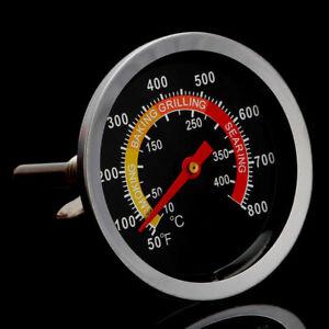 50-400-Edelstahl-BBQ-Smoker-Grill-Thermometer-Kueche-Temperaturanzeige-W0E3