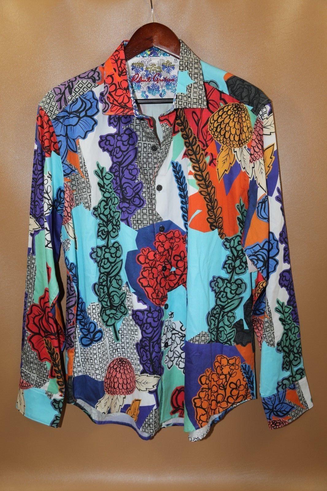 Robert Graham Flowers Print Classic Fit Shirt Size XL