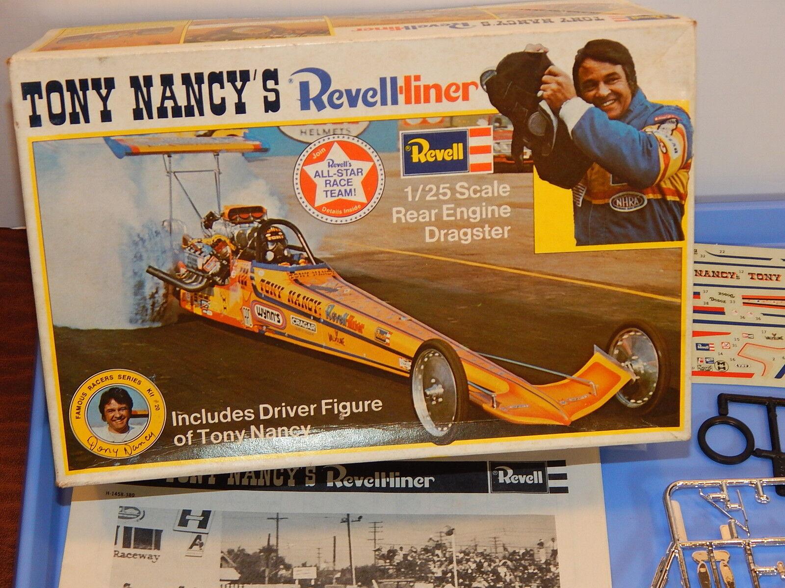 Vintage revell tony nancys revell - liner - dragster - modell
