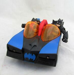Batman-amp-Robin-Batmobile-Mobile-Figures-Fisher-Price-Toy-Car-Figure-Play-Set