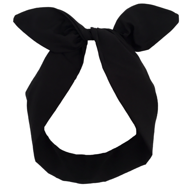 Jet Black Wired Headband