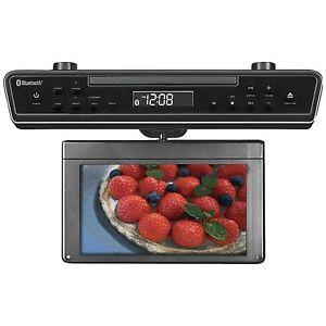 sylvania skcr2706bt 10 2 inch under cabinet kitchen tv ebay