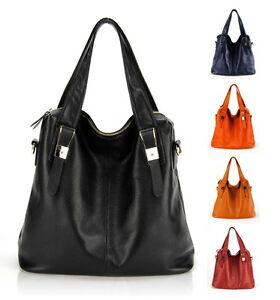 Women Genuine Soft Leather Tote Bag Per Cabas