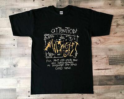 5XL Vintage T-Shirt 1988 Midnight Oil Reprint Size S