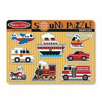 Melissa And Doug Vehicles Sound Puzzle , New, Free Shipping