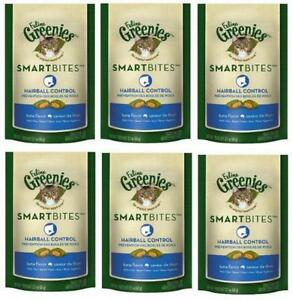 FELINE GREENIES 6-Pack Feline Smart Bites Treat, Tuna, 2.1-Ounce, New, Free Ship