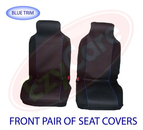 CITROEN NEMO VAN 08+ FABRIC BLUE TRIM VAN SEAT COVERS 2 SINGLE 1+1