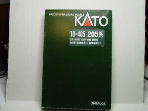 KATO-N-SCALE-205-SERIES-034-KEIYO-LINE-COLOR-034-4-CAR-ADD-ON-PASSENGER-CAR-SET-10-405