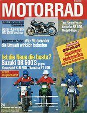 Motorrad 24 84 1984 Bimota Tesi Boxer HG 1000 Vecteur Suzuki TGA 1 Yamaha XT 600