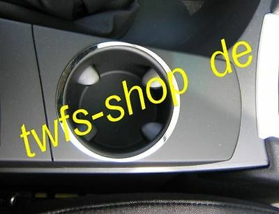 D BMW X3 Chrom Rahmen für Getränkehalter in der Mittelkonsole - Edelstahl pol