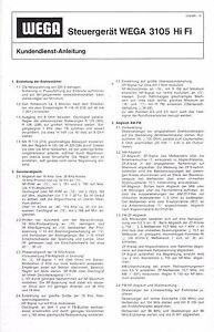 Anleitungen & Schaltbilder Wega Service Manual fr studio 3213 B ...