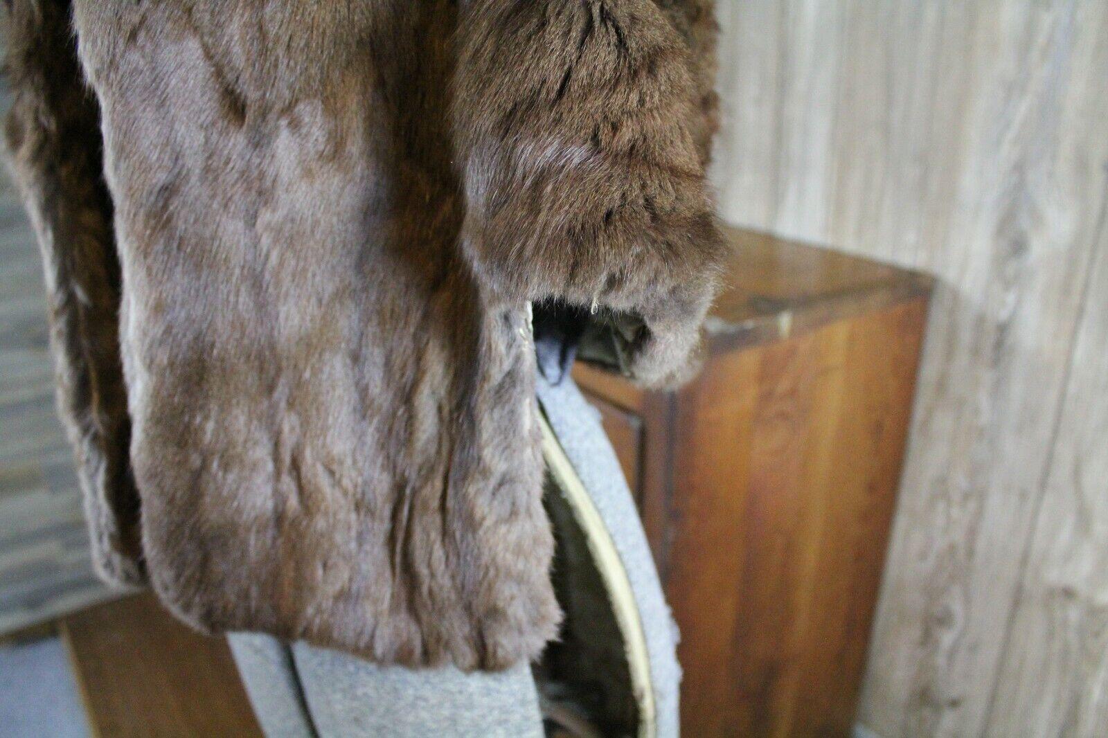 Vintage Goldblatt's Fur Shaw Stole Brown Mink Old… - image 9