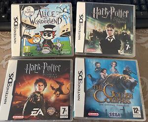 Nintendo DS Games-Deux Harry Potter, Alice au pays des merveilles and the golden compass