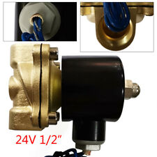 24v 12 Brass Electric Solenoid Valve Npt Mode Fit For Gas Oil Water Air Glycol