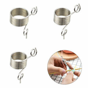 Knitting-Braided-Ring-Tool-Finger-Thimble-Yarn-Needle-Guide-Sewing-Accessories