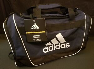 48fa616cf Adidas Defender II Blue White Black Small Duffel Bag Gym Bag | eBay